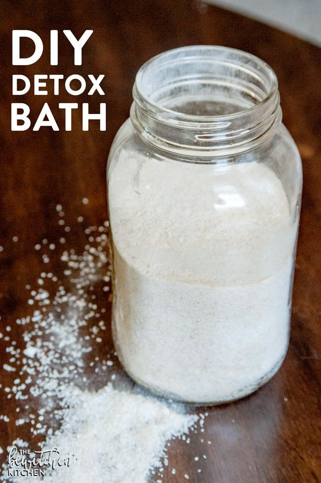 How to get rid of the flu fast with this DIY detox bath. This detox recipe is quick and easy and you probably have everything you need in your pantry. How to available on The Bewitchin' Kitchen.