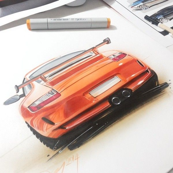 some car sketches v.II on Behance