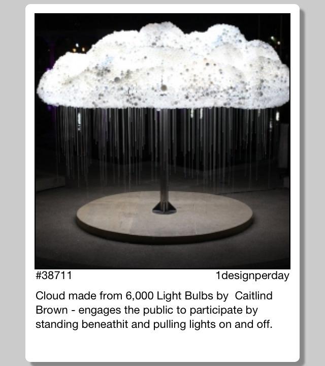 6,000 Lightbulb Cloud Interactive Art Installation. Amazing.