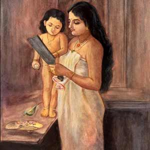 Mother and a child by Raja Ravi Verma