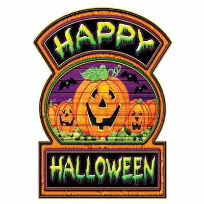 Happy Halloween Sign Small Wall Cling @ niftywarehouse.com #NiftyWarehouse #Halloween #Scary #Fun #Ideas
