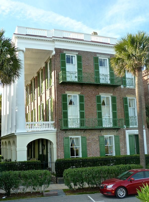 25 best ideas about green shutters on pinterest cottage for Charleston green paint