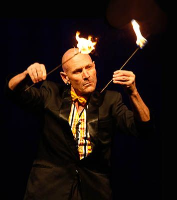 Finhead presents his spectacular and unique stunt shows with humour and if desired, audience participation.
