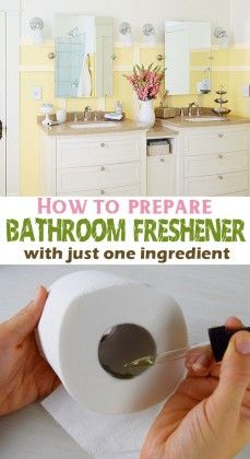 how to prepare bathroom freshener with just one ingredient - Bathroom Fresheners
