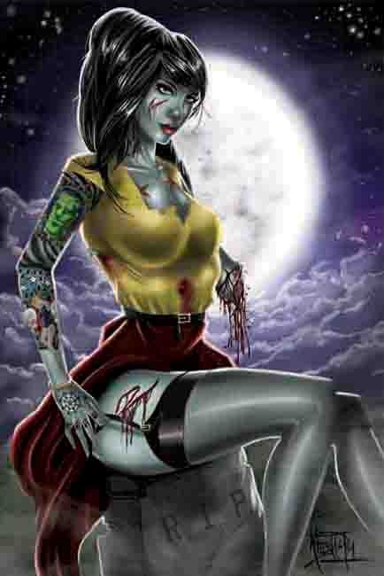 Zombie Pinup!   This is looking just a little bit familiar!