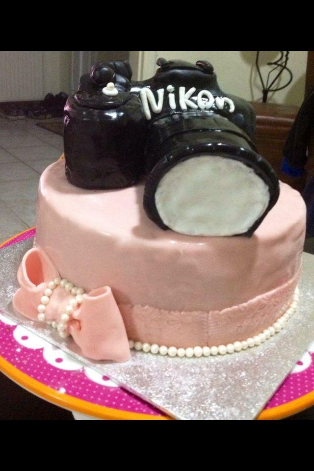 Photo camera birthday cake