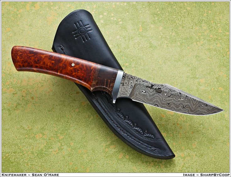Finback-HT Damascus Blade with Segmented Handle