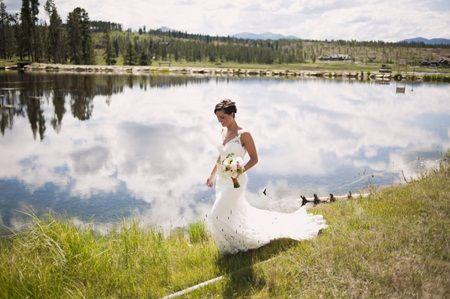 Brides: A Rustic Summer Wedding at Devil's Thumb Ranch in Colorado