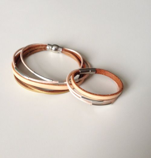 Mommy & Me Matching Bracelets - Mom Daughter Leather...