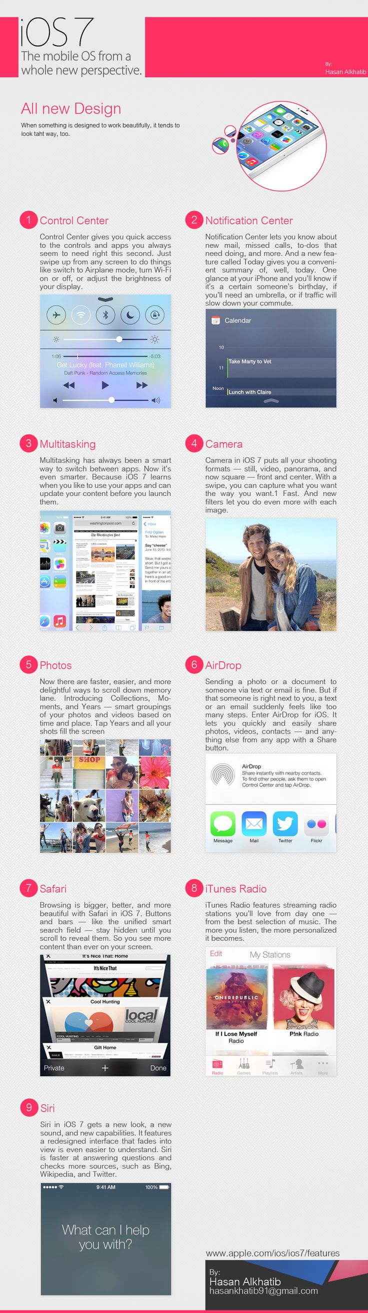 Complete iOS 7 Feature Overview #infographic