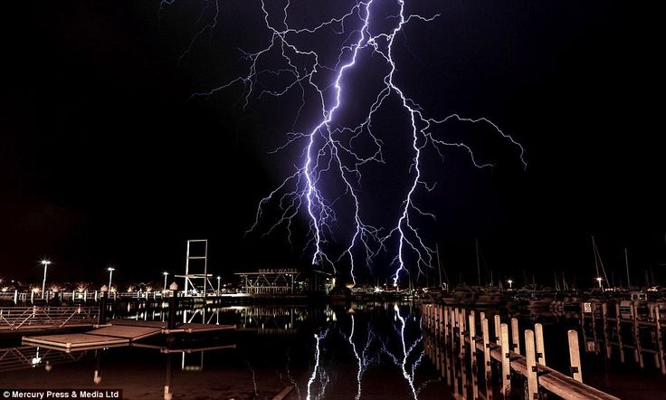 'It was probably the closest call I've had with lightning' Oliver said of his encounter wi...