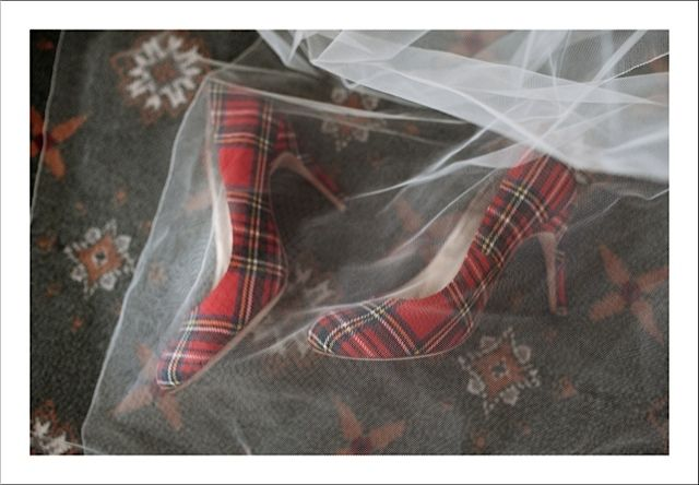These stunning tartan wedding shoes were made with Lianne's family tartan as a Special Order. We can do the same for you just contact us on iloveshoes@upperstreet.com for details