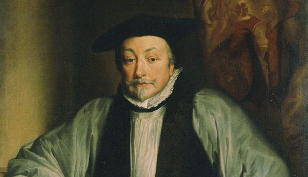 """William Laud was Archbishop of Canterbury, the head of the Anglican Church, from 1633 to 1645. This was an era of religious turmoil in England, and William Laud made some fierce enemies: He once had three prominent Puritans' ears cut off, and their cheeks branded with the letters """"SL,"""" for """"Seditious Libeller."""" The court jester at the time quipped, """"Give praise to the Lord and Laud to the Devil."""" Eventually, his enemies gained enough political power to have him arrested and beheaded"""