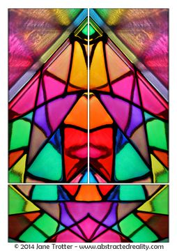 Abstract art to challenge your imagination. 'Prismatic' - an abstract photograph created by Jane Trotter. Visit the website abstractedreality.com for the story behind the image. Fine Art Prints available. #abstract #art #photography #colour #triptych