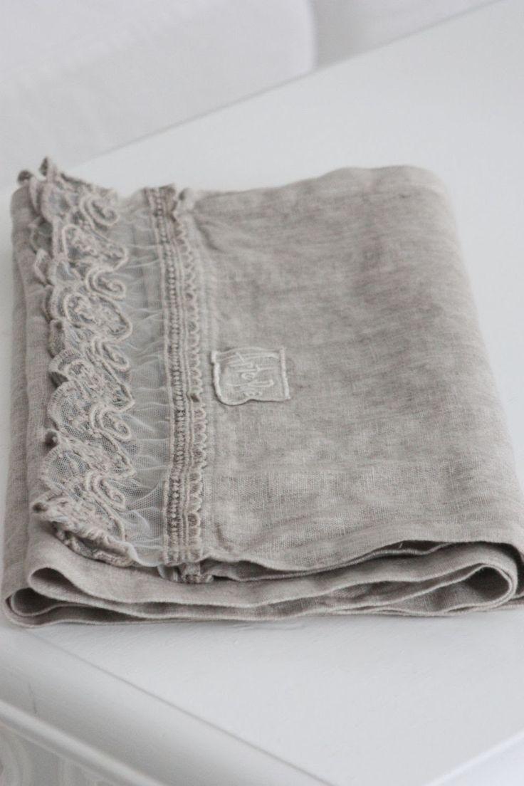Beautiful Lace edged, Linen Runner~ Luxury Beauty - http://amzn.to/2jx73RT