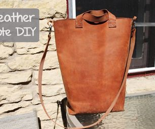 In this Instructable you will learn how to transform a piece of leather into a modern, simple tote bag. It can be used to carry books, as a purse or f...