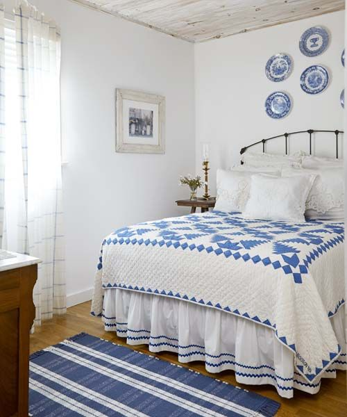 Blue And White Cottage Style Bedroom: 1000+ Images About Country Blue On Pinterest