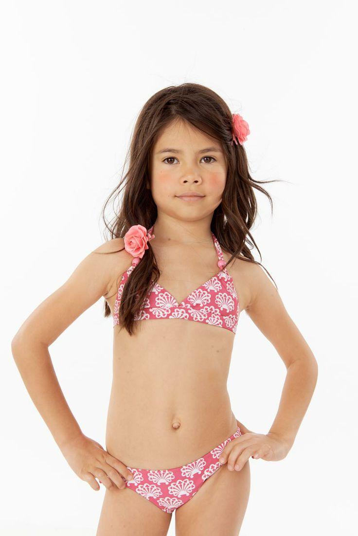Sabina swims clover pink printed little girls bikini ages 4 10yrs