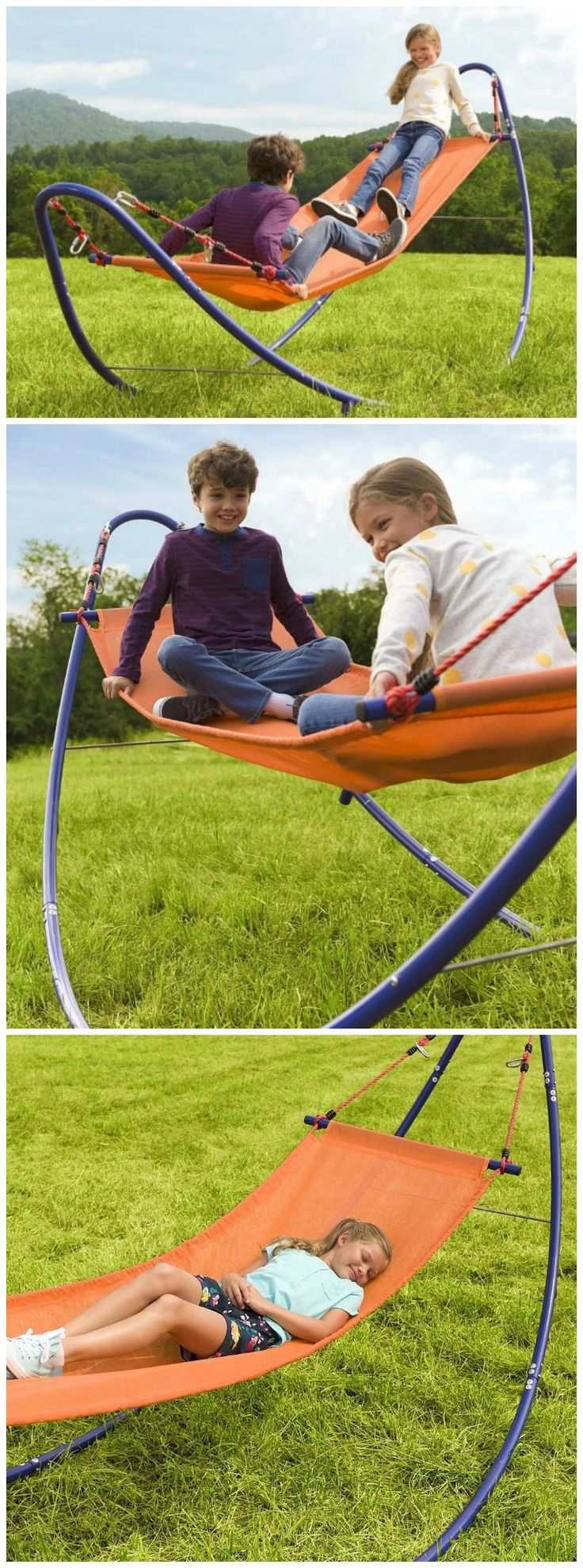 HearthSong Rockin' 2-in-1 Hammock rockin' good-time  hammock offers ample room for one or two kids to rock up and down or just laze back. #affiliate
