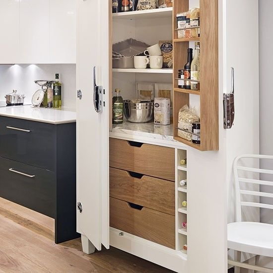 Freestanding Kitchen Kitchen Storage And Larder Cupboard