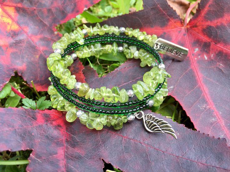Peridotto  Memory wire bracelet