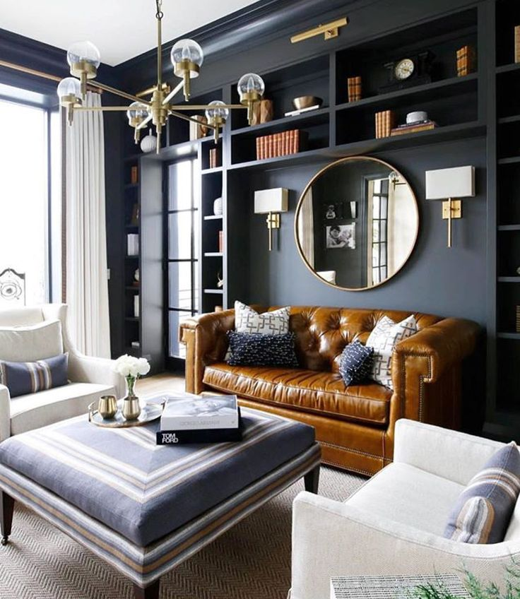 Home Decorating Living Room Ideas 2019: Circal Gold Leaf Round Mirror In 2019