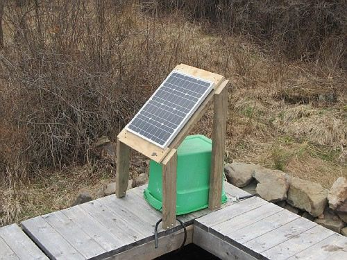 Solar pump for irrigation, looks like a similar Zamp panel construction.