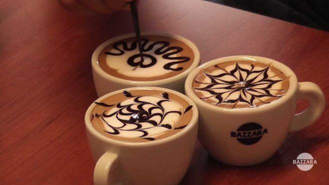 Latte Sanat Dersleri - Kahveden süt ve çikolata ile bardakta yapılmış güzel resimleri