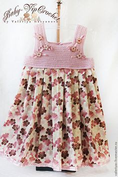 vestidos de niña con pechera en crochet - Buscar con Google