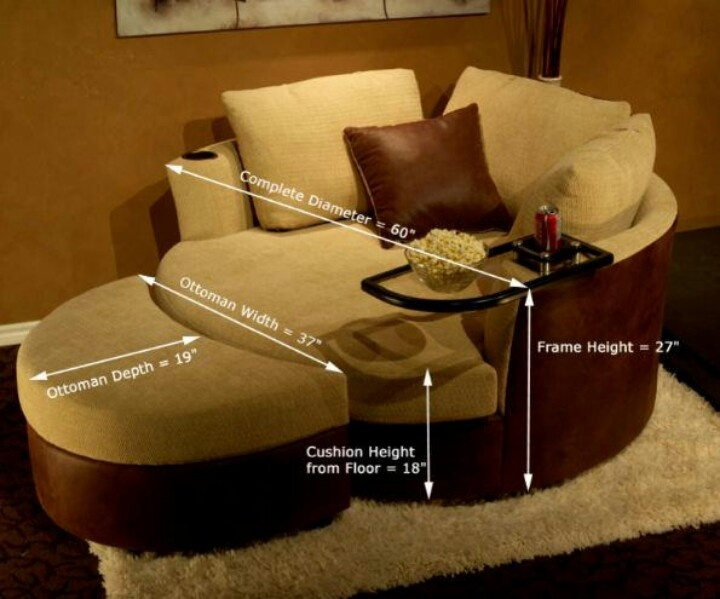 Cuddle Couch With Extending Foot Stool