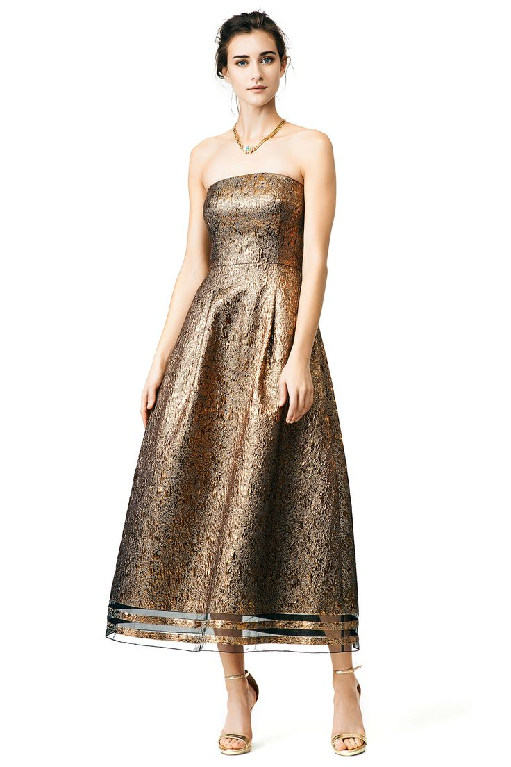What to wear to a fall 2015 wedding gold dress from for Guest of wedding dresses fall