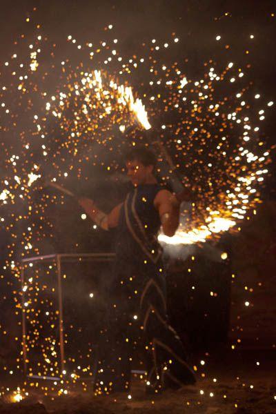 Festiwal ognia w Manufakturze