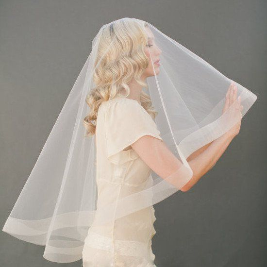 Waist Length Veil - 15% off - perfect for modern brides, minimal hair comb that's easy to wear and no distraction to your style