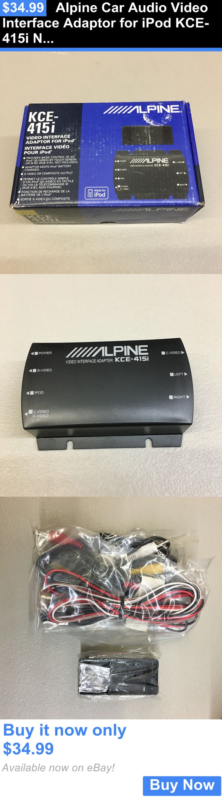 Cables and Adapters: Alpine Car Audio Video Interface Adaptor For Ipod Kce-415I Nos BUY IT NOW ONLY: $34.99
