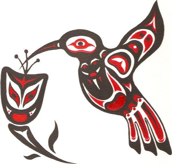 Native Hummingbird Art Northwest By clipart