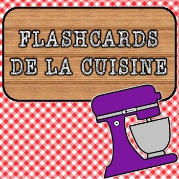 Bonjour, wonderful teachers! This French flashcard set focuses specifically on vocabulary found around the kitchen, including the most common appliances, and the dishes and cutlery that we use daily! #cuisine #kitchen #flashcards #french #vocabulary #cooking #appliances #frenchteacher