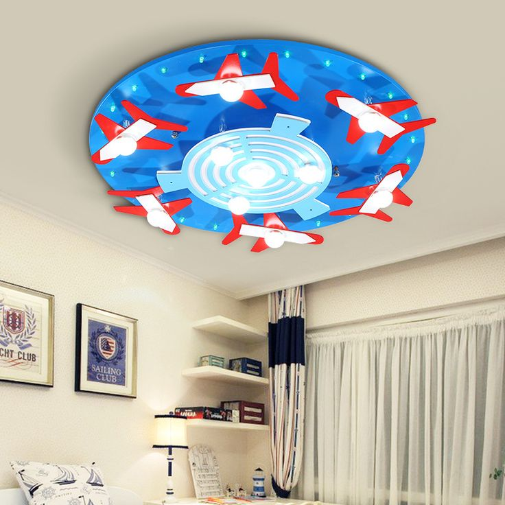 Children's room LED round  male girl blue powder bedroom  cartoon eyes Princess kindergarten ceiling lamp LO824 #Affiliate