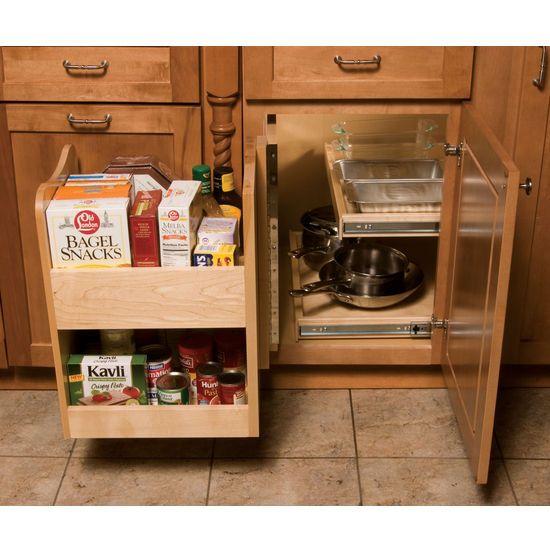 Blind Corner Kitchen Cabinet: KitchenMate™ Blind Corner Cabinet Organizer By Omega