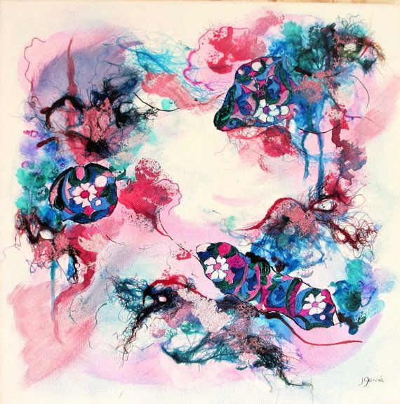 Abstrait art abstrait tableau abstrait  Fragments par ChezPasserose