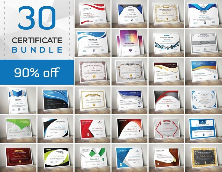 30 Amazing Certificate template bundle is a collection of beautiful modern and retro/vintage #certificates #graphics #design which you can use in your own products and save money and time! download now➩  https://creativemarket.com/ArtAttacked/707310-Certificate-Bundle?u=Datasata