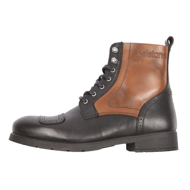 Demi-bottes Helstons TRAVEL - NOIR/TAN