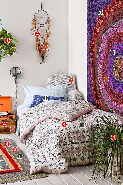 Decoracao Sala Hippie ~ ideias sobre Quarto Hippie no Pinterest  Decoração para sala hippie