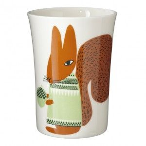 Squirrel Beaker by Donna Wilson, made in Hackney.