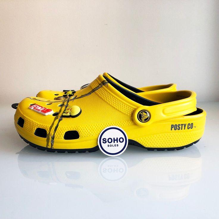 Post Malone X Crocs Dimitri Clog Barbwire Yellow Size 4-14