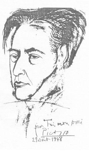 Пикассо. Портрет Эренбурга 1948 год