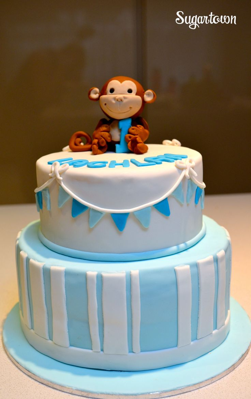boy first birthday 1st birthday cakes butter cakes mud cake fondant ...