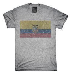 Retro Vintage Ecuador Flag T-Shirts, Hoodies, Tank Tops