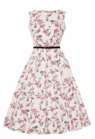 Lady Vintage London Poppy Hepburn Rockabilly Swing Dress Size 8-20