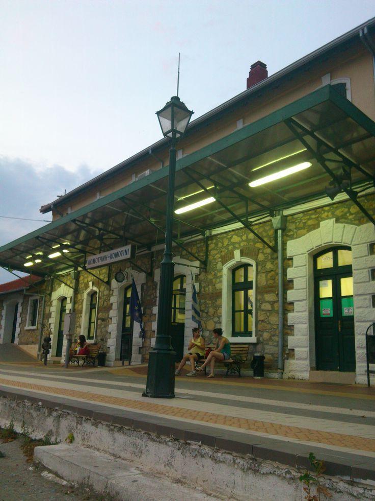 The Train Station at Komotini (: