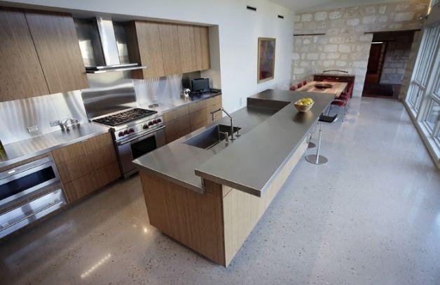Polished Concrete Kitchen Floor